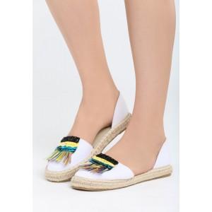 Letní dámské boty v bílé barvě