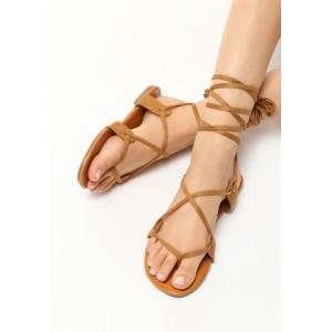 Sandály se šněrováním hnědé