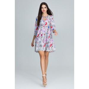 Lehké letní šaty v modré barvě