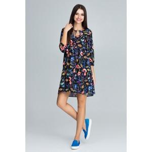 Šaty do áčka s květinovým vzorem