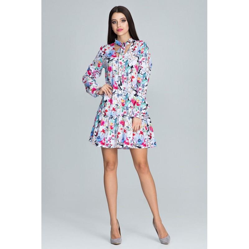 Květované šaty krátkého střihu 0a40223a1d