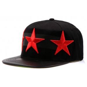 Stylové kšiltovky s červenými hvězdami