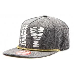 Čepice s kšiltem šedé barvy