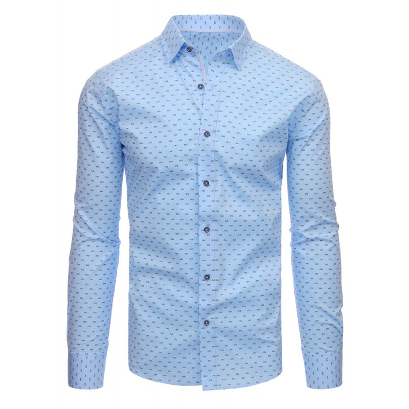 956b0d5ce665 Luxusní košile pánské modré barvy