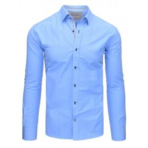Pánské společenské košile modré barvy