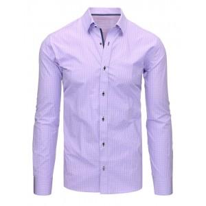 Fialová košile s dlouhým rukávem