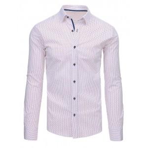 Bílá košile s barevnými puntíky