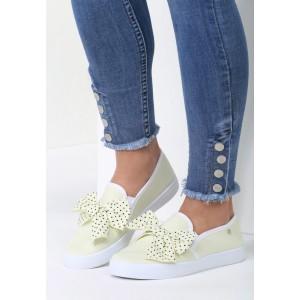 Slip on boty dámské žluté barvy