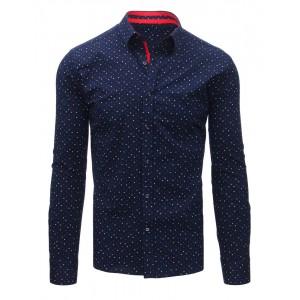 Modrá košile s barevným vzorem