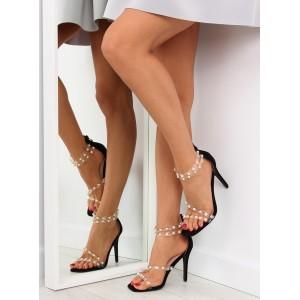VELIKOST 37 Dámské ramínkové sandály v černé barvě