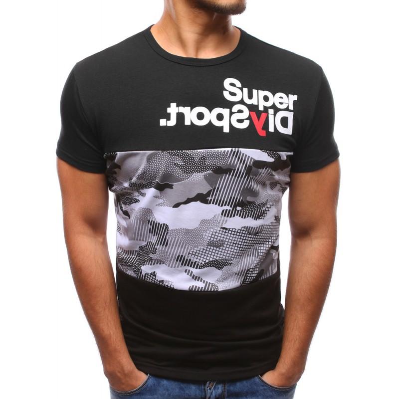 378c13582e87 Pánské tričko černé barvy