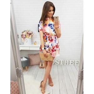 Barevné letní šaty s květinami
