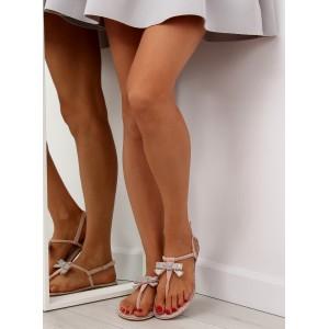 Růžové sandály s mašlí