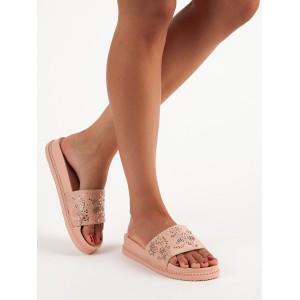 Gumové pantofle na léto s korálky