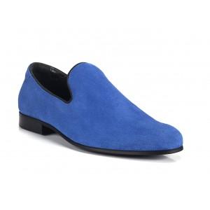 Pánské mokasíny modré barvy