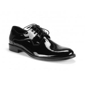 Pánské boty černé barvy kožené