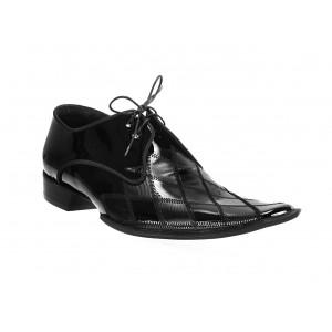 Pánské kožené extravagantní boty černé ID: 568