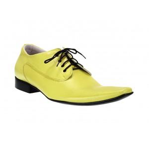 Pánské kožené extravagantní boty žluté ID: 564