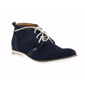 Pánské kožené boty modré ID: 559