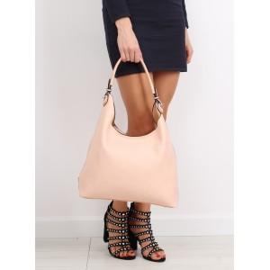 Růžová kabelka do ruky s bočnou kapsou
