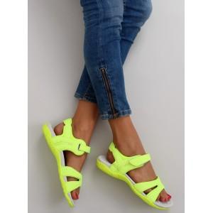Sportovní sandály neónově žluté