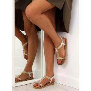 Letní sandály dámské v stříbrné barvě