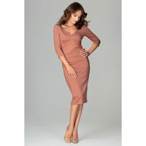 Elegantní šaty hněde