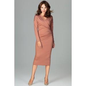 Ženský šaty hnědé