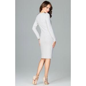 Sexy šaty ulnuté šedé