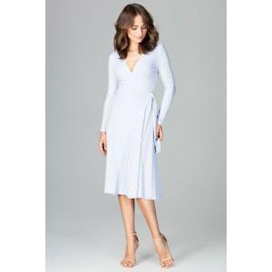 Voľné šaty modré