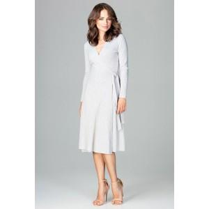 f1dd172d3c00 Jednoduché krátké dámské šaty šedé barvy s vrstvenou sukní - manozo.cz