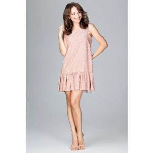 Krátké růžové dámské šaty s volány na rukávech - manozo.cz f7074e7fd2