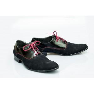 Pánské kožené boty černé PT1150
