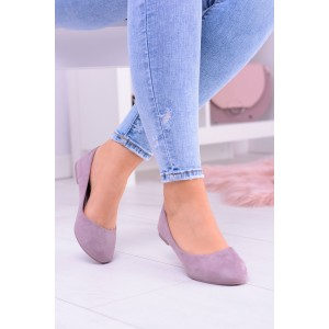 Pohodlné baleríny purpurové barvy