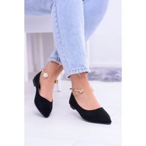 Boty baleríny černé barvy