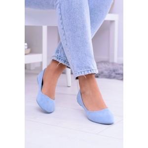 Modré baleríny pro dámy