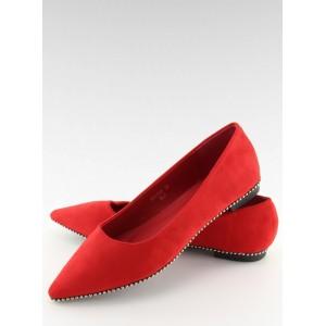 Luxusní baleríny červené barvy