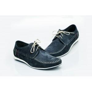 Pánské kožené boty modré PT1400D