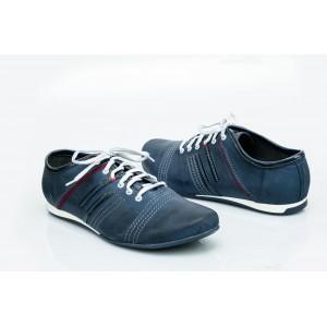 Pánské kožené boty modré PT1500