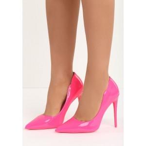 VELIKOST 39 Růžové lodičky pro dámy na vysokém podpatku