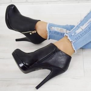 VELIKOST 36 Černé dámské kotníkové boty