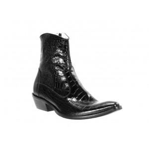 Pánské kožené kovbojky černé ID: 570