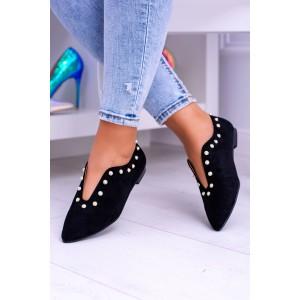 Boty na podpatku černé barvy