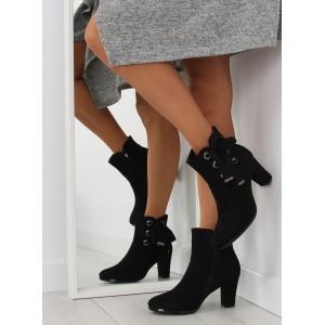 Dámská kotníčková obuv černé barvy na vysokém podpatku - manozo.cz 4e3a75b6d8