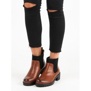 Dámská kotníková obuv hnědé barvy