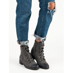 Zimní dámské boty šedé barvy