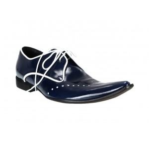 Pánské kožené extravagantní boty modré ID: 562