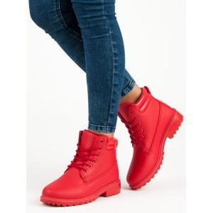 Dámské workery červené barvy