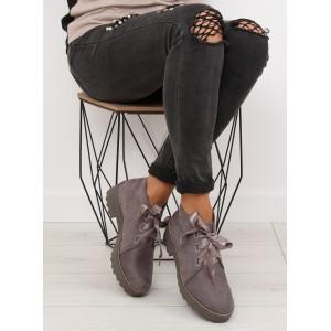 Podzimní dámské boty šedé barvy