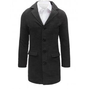 Pánský kabát tmavě šedé barvy